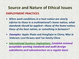 ethical issues in international business essays influence of ethics in business uk essays