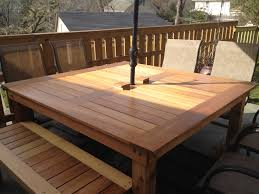 rustic outdoor dining table. Simple Square Cedar Outdoor Dining Table Yourself Home Rustic