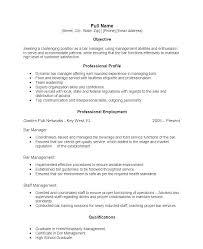 Example Bartender Resume Amazing Bartenders Resume Example Bartender Sample Pdf Creerpro
