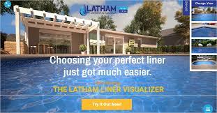 latham liner visualizer latham augmented reality pool visualizer app fiberglass
