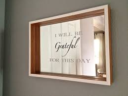mirror vinyl. vinyl project: mirror art. quote: i will be grateful for this day k