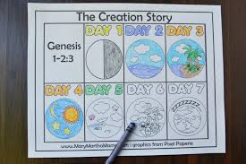 Creation Coloring Pages Mary Martha Mama