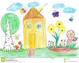 Dessin D Enfant D Une Maison Image Stock Image Du Illustrations