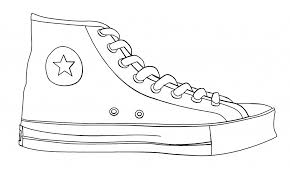 converse shoes clipart. shoe outline template #1940311 converse shoes clipart