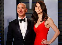Jeff Bezos, in divorce settlement ...