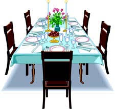 Setting the table for a large family