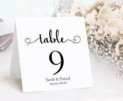 wedding table cards template table numbers printable wedding table card template diy editable