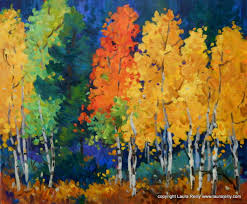 beginner s acrylic painting one day work autumn aspens with laura reilly presented by laura reilly fine art gallery and studio peakradar com