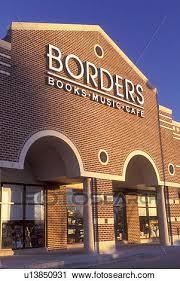 Stock graphy of Borders bookstore Wilmington DE Delaware