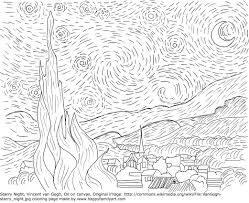 Small Picture Downloads Van Gogh Coloring Pages 73 On Drawing with Van Gogh