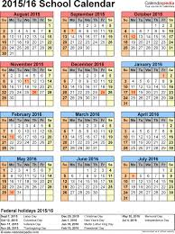 Free Printable School Calendar Download Free School Calendars 2015 2016 As Free Printable Word
