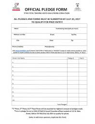 Official Pledge Form 6 20 17 Casa Of Bell Coryell Counties