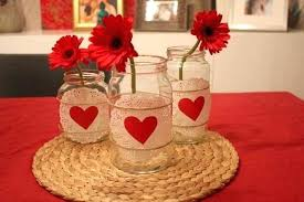 Decorating Ideas For Glass Jars Cool Valentine Centerpiece Ideas Photos Valentines Day Home Decor 75
