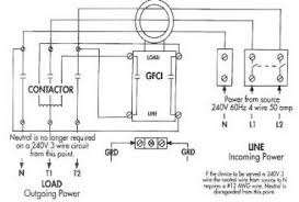 wiring diagram 2 pole gfci breaker wiring diagram wiring diagram gfci receptacles