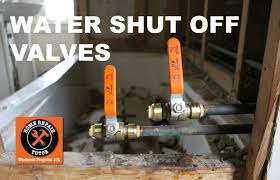 how to install a water shut off valve in a bathroom step by step by home repair tutor
