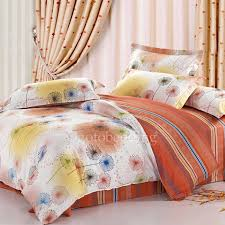 100 cotton duvet covers fine orange patterned modern for kids 9