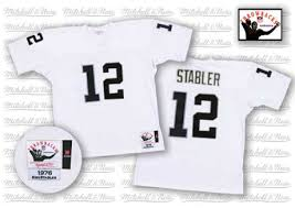 Raiders Jersey - Official Kenny Stabler Nfl Authentic Oakland Team Sale