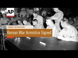 Image result for On July 27, 1953, after two years of negotiation, an armistice was signed,