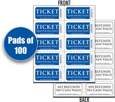 Perforated Raffle Ticket Sheets Stock Sheet Tickets
