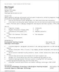 Medical Technology Example Sample Nuclear Medicine Technologist Resume Medical Technologist