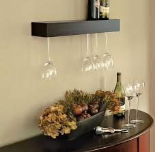 Floating Glass Shelves For Bar