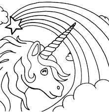 Free Printable Rainbow Colouring Pages Color Unicorn Coloring Fish
