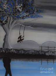 a swing painting flying high on swing by nayna tuli fineart
