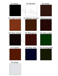 Saphir Nuancier Color Chart