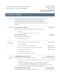 New Grad Rn Resume Examples Resume And Cover Letter Resume And
