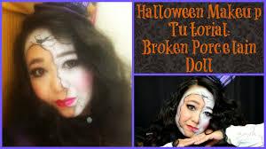 broken porcelain doll makeup tutorial