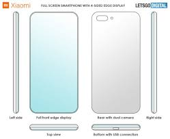 Xiaomi Patent Details Stunning Phone Design With 4 Sided Edge