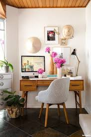 mid century modern home office. The Wood Ceiling Helps To Warm Up A Mid-century Modern Home Office. Cozy Little Work Space, It Shows How Include Meaningful Elements Without Appearing Mid Century Office