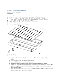 here s construction instructions to build a 58 long x 42 wide ramp module