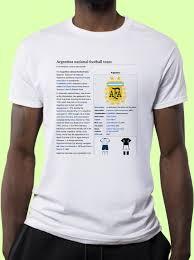 Wikipedia T Shirt Argentina National Football Team Wikipedia Article T Shirt