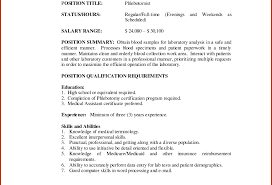 Awesome Phlebotomist Resumes Images Simple Resume Office