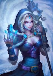 dota 2 crystal maiden fanart by jianrutam on deviantart