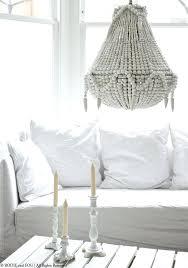 amelia wood bead chandelier white wood beaded chandelier amelia indoor outdoor wood bead chandelier