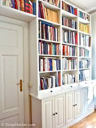 ikea bookshelves with glass doors customized billy built ins ikea billy bookcase with doors oak