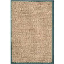 natural fiber beige light blue 10 ft x 14 ft area rug