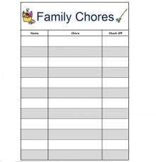 Family Chore Charts Free Printables 24 7 Moms