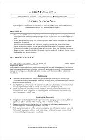 Lpn Resume With No Experience List Lpn Skills For Resume
