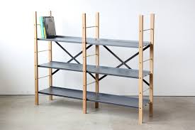 ... Appealing Freestanding Shelving Metal Shelving Lowes Black And Light  Wood Shelving With Books: