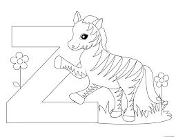 Printable Animal Alphabet Letter Z for Zebra