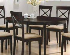 black friday deals cappuccino finish oval dining table set kitchen furniture fine furniture
