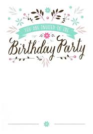 Birthday Invitations Template Free Lovely Models Printable