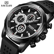 <b>Relogio Masculino MEGIR Men</b> Sport Watch Military Silicone ...