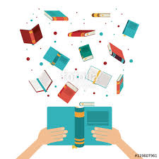 book open set hand read library literature learning knowledge icon colorful design vector ilration