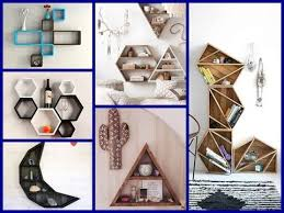 50 creative geometric shelves ideas wall shelves diy room decor