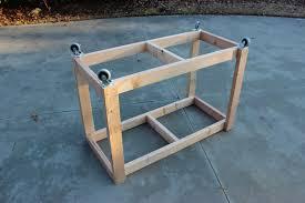 easy diy portable workbench plans step 2
