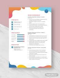 Emergency Department Technician Resume Template Download